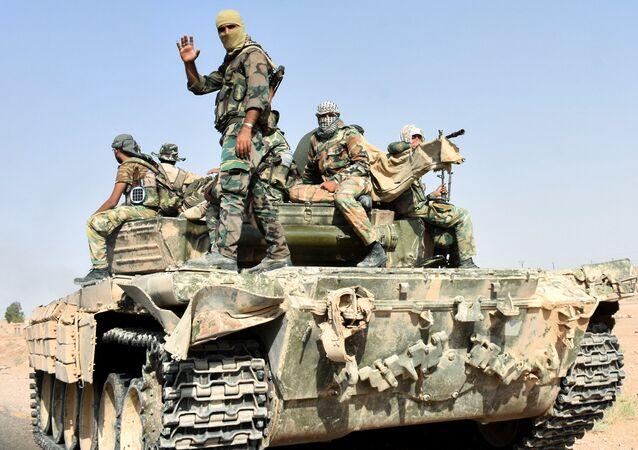 Esercito siriano a Deir ez-Zor