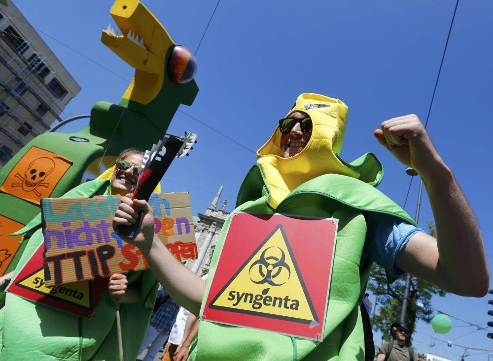 Le proteste contro il prossimo vertice G7 a Monaco