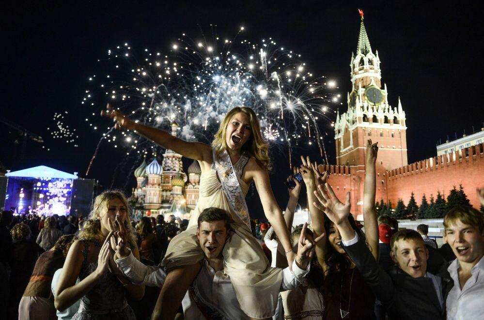 I diplomati sulla piazza Rossa di Mosca