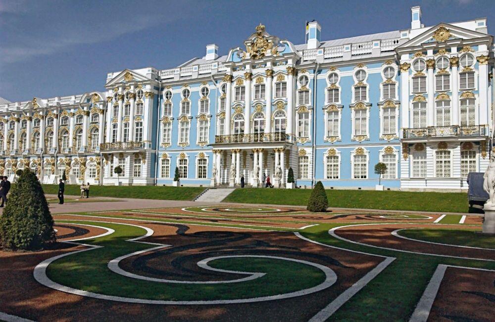 Il palazzo di Caterina di Tsarskoye Selo, nella città di Puškin vicino a San Pietroburgo