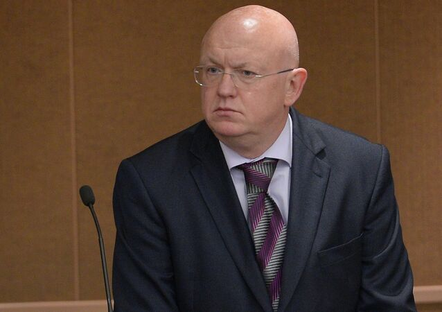 Russia's Deputy Minister of Foreign Affairs Vasily Nebenzya