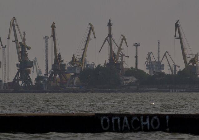 Porto di Mariupol, mar d'Azov