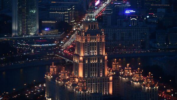 Вид с 89-го этажа Башни Федерация-Восток делового комплекса Москва-Сити, где строится самая высокая смотровая площадка в Европе - Sputnik Italia