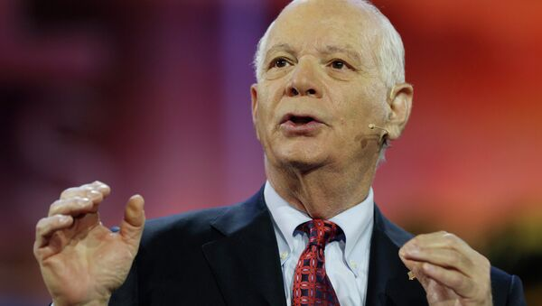 Senator Ben Cardin (D-MD) addresses the American Israel Public Affairs Committee (AIPAC) policy conference in Washington March 1, 2015 - Sputnik Italia