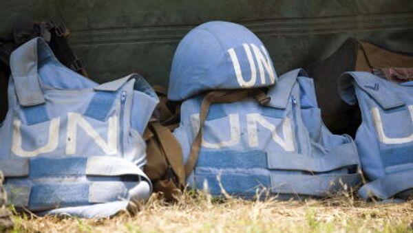Шлем и бронежилеты миротворцев ООН - Sputnik Italia