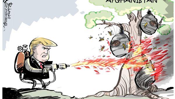 Trump bombarda i talebani come nessuno mai - Sputnik Italia
