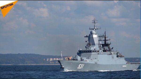 ZAPAD 2017 - Le navi della Flotta del Baltico in azione - Sputnik Italia