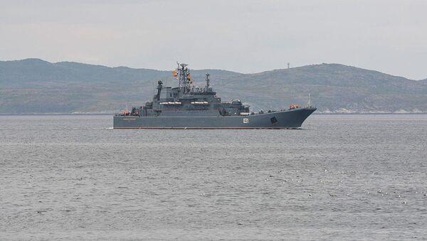 Grande nave da sbarco Alexander Obrakovsky della Flotta del Nord russa - Sputnik Italia