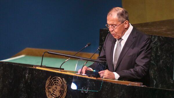 L'intervento di Sergey Lavrov all'ONU - Sputnik Italia