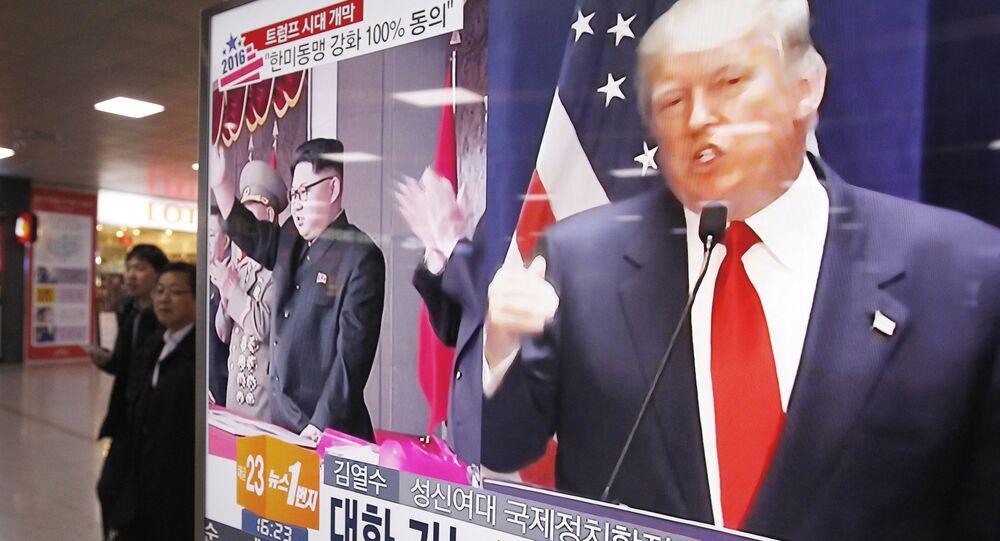 A parole sono già in guerra il presidente americano Donald Trump e il leader nordcoreano Kim Jong-un