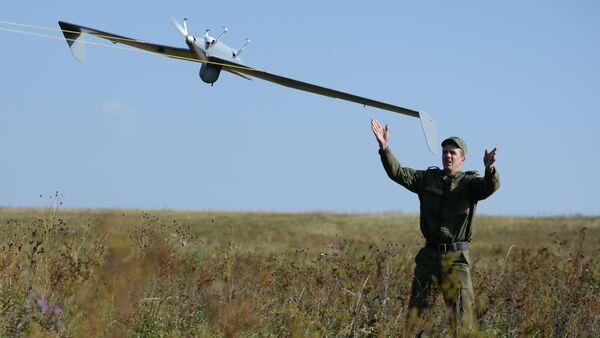 Launch of UAV during an exercise. File photo - Sputnik Italia