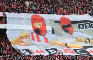 Una coreografia del derby tra Lokomotiv e Spartak Mosca