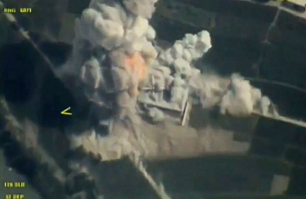 I colpi effettuati dal bombardiere strategico russo Tu-95MS con i missili da crociera X-101 contro le infrastrutture dei terroristi in Siria.
