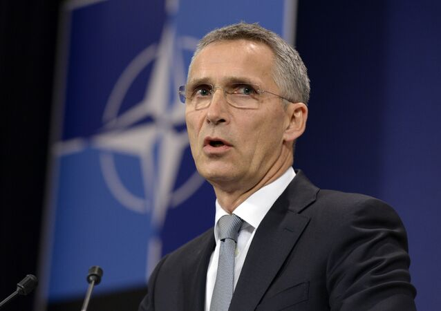 NATO Secretary-General Jens Stoltenberg delivers a press conference after a NATO defence ministers' meeting at the NATO headquarters in Brussels on October 27, 2016