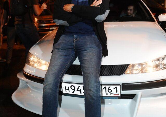 Attore francese Semi Naceri, la star del film Taxi, al festival BRIDGE of ARTS a Rostov-sul-Don, Russia.