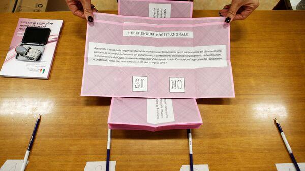 Referendum in Italia - Sputnik Italia