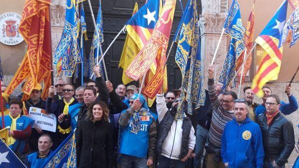 Manifestazione davanti al Consolato spagnolo a Verona. - Sputnik Italia