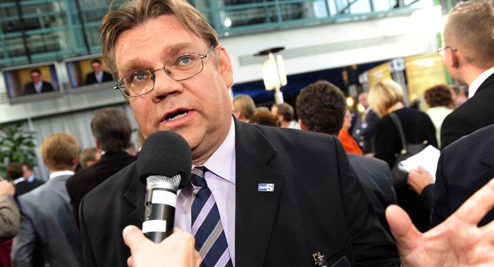 Timo Soini, ministro Esteri Finlandia