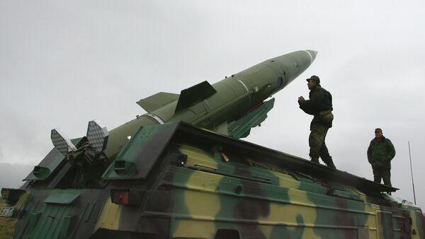 Tochka short-range tactical ballistic missile launched from test area in the Kaliningrad Region - Sputnik Italia