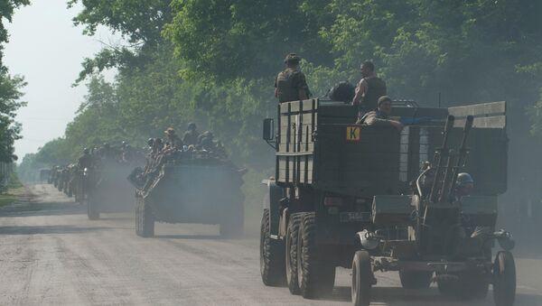 Convoglio militare ucraino nel Donbass - Sputnik Italia