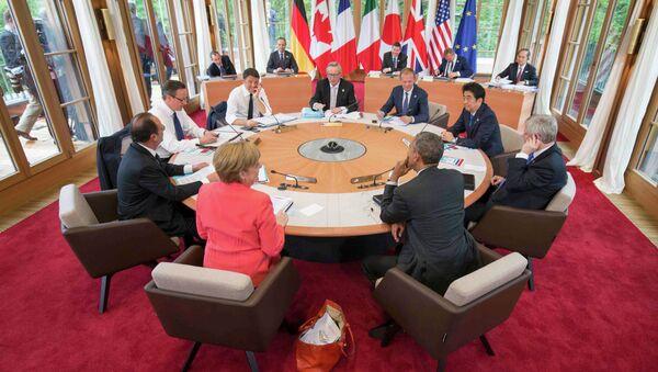 Una sessione del vertice G7 in Germania - Sputnik Italia