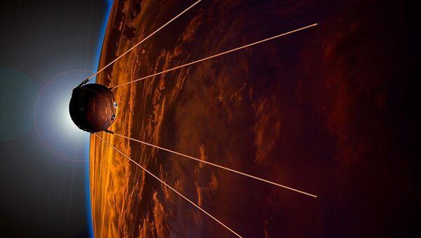 La visualizzazione dell'artista in onore del 50esimo anniversario del lancio. - Sputnik Italia