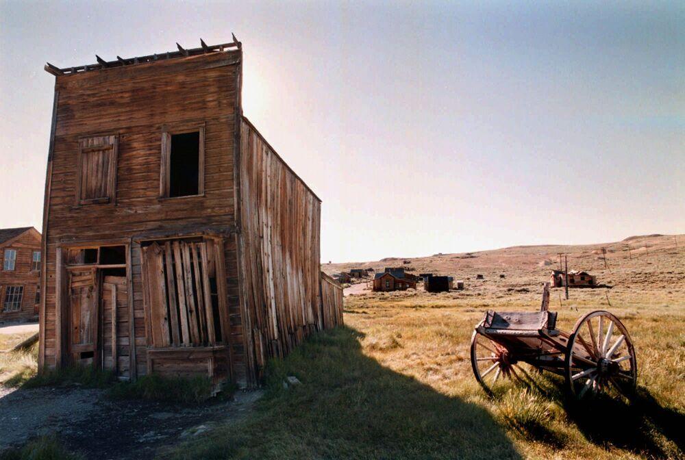 USA, California, l'hotel Swazey nel territorio del sito storico di Bodie.