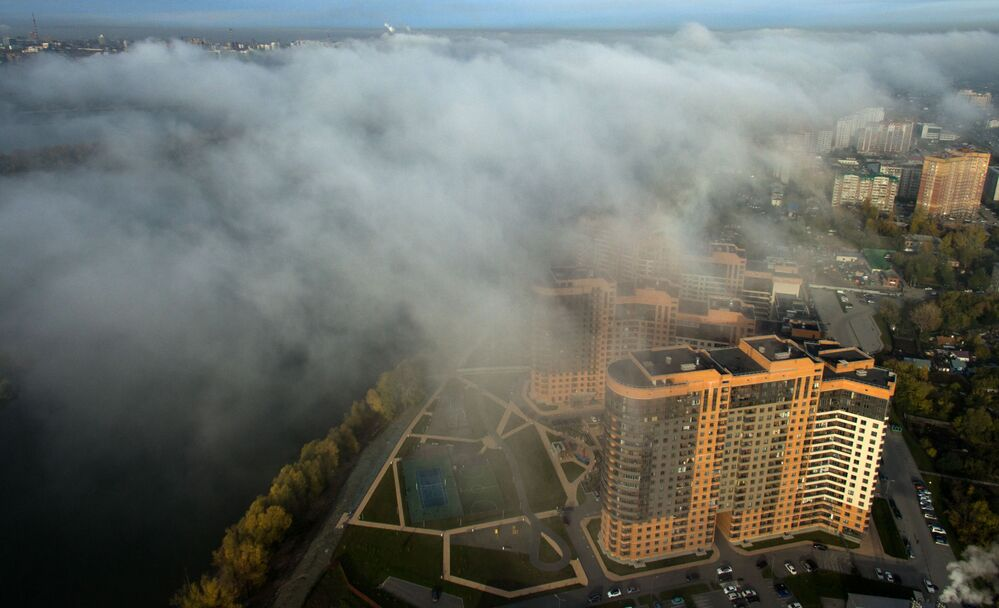 Le nebbie di Novosibirsk.