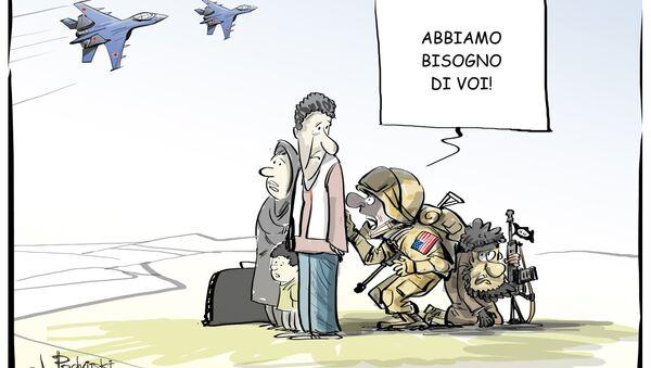 Ministero Difesa: base statunitense usa profughi siriani come uno scudo vivente - Sputnik Italia