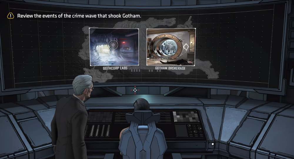 Screenshot del videogioco Batman: The Enemy Within con l'immagine dell'ambasciatore russo Andrey Karlov ucciso ad Ankara