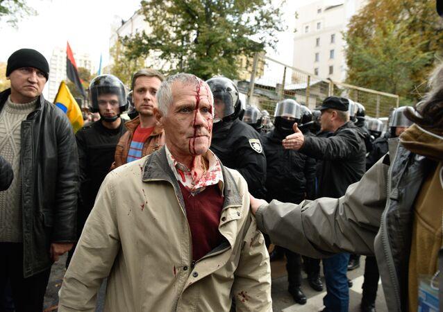 Kiev, un manifestante ferito il 17 ottobre