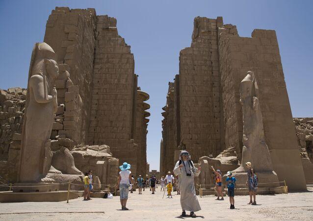 Il tempio di Karnak in Egitto