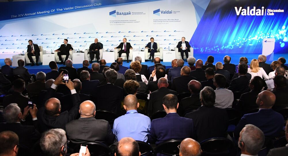 La sessione plenaria del Forum di discussione Valdai Club