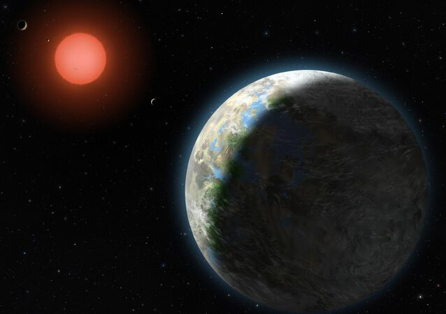 Rappresentazione di un pianeta extrasolare