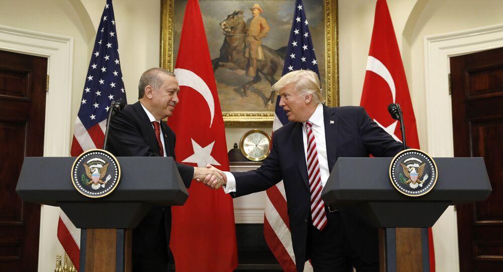 US President Donald Trump's meeting with Turkish President Recep Tayyip Erdogan in Washington on May 16, 2017