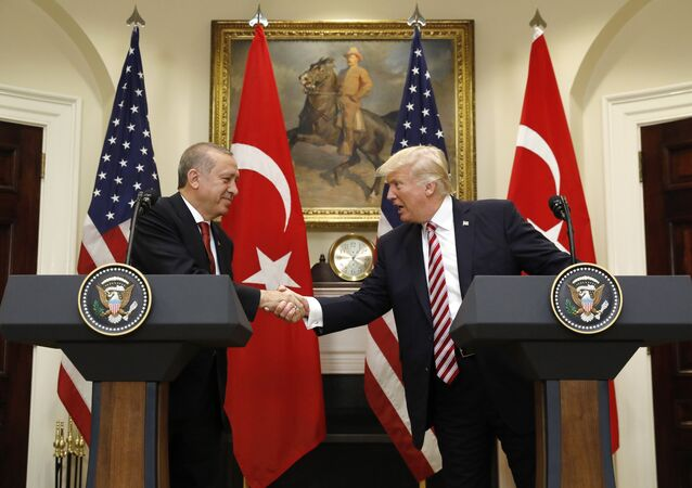 US President Donald Trump's meeting with Turkish President Recep Tayyip Erdogan in Washington on May 16, 2017