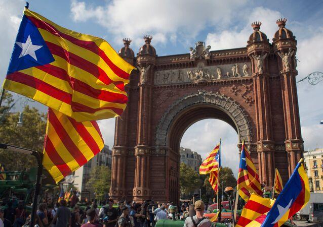 La bandiera della Catalogna