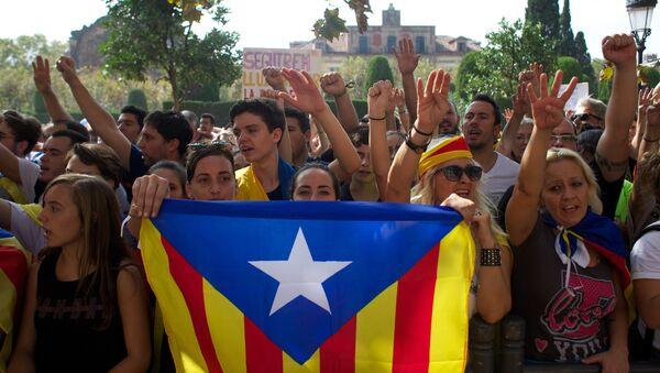 Le proteste contro il governo spagnolo, Barcellona - Sputnik Italia