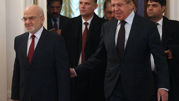 Il ministro degli Esteri iracheno Ibrahim Jaafari e il ministro degli Esteri russo Sergey Lavrov - Sputnik Italia