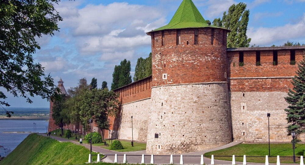 Koromyslovo Tower in the Nizhny Novgorod Kremlin