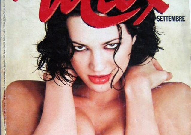 La copertina di Max dedicata ad Asia Argento nel settembre 1998