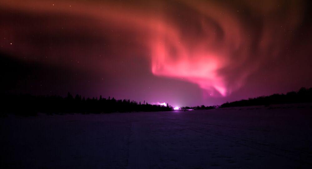 Aurora polare (foto d'archivio)
