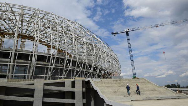 Строительство стадиона Мордовия Арена в Саранске - Sputnik Italia