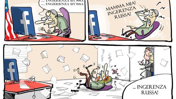 Facebook spiega che si accorse dell'influenza di Mosca e avvisò le autorità prima delle votazioni. - Sputnik Italia