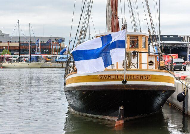 La bandiera della Finlandia