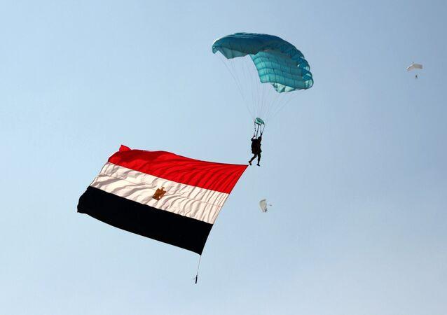 La bandiera dell'Egitto