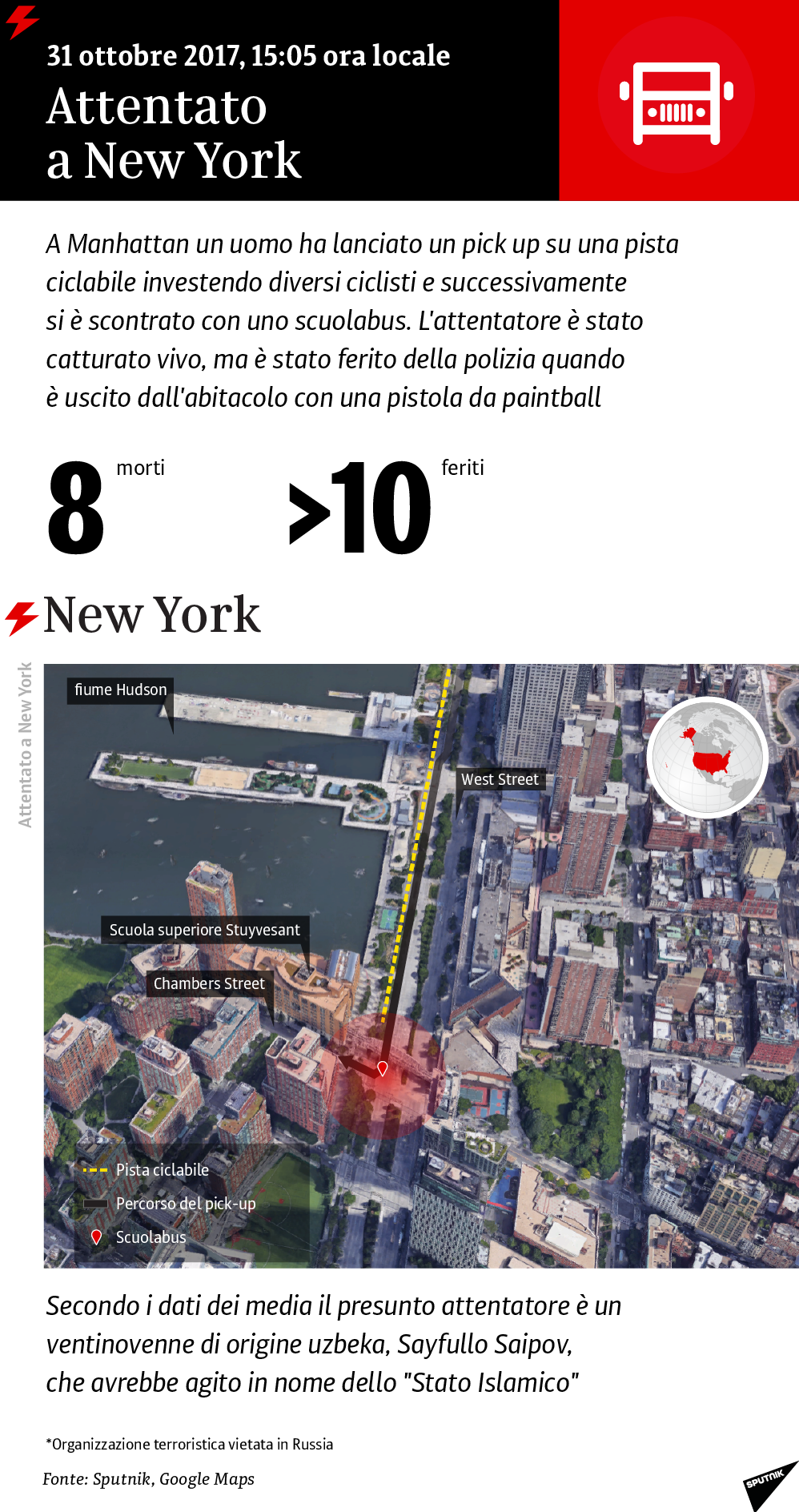 Attentato a New York, 31 ottobre 2017
