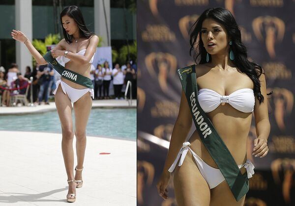 Una candata dell'Equadore al Miss Terra. - Sputnik Italia