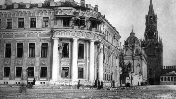 Разбитый малый Николаевский дворец. 1917 год - Sputnik Italia