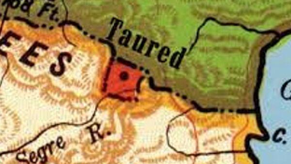 La località di Taured indicata su un cartina geografica - Sputnik Italia